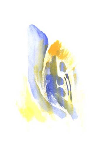 Watercolor painting in 1998